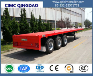 Tri-Axle 40FT Flatbed Container Semi Truck Trailer pictures & photos