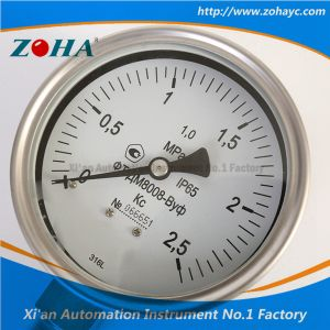 Radial Needle Dial Type Wika Ss Manometer pictures & photos