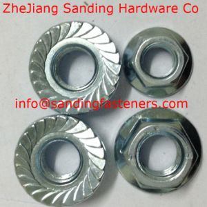 Carbon Steel Gr8 DIN6923 Yellow Zinc Plated Hex Flange Nut pictures & photos