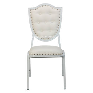 White Stackable Aluminum Restaurant Cafe Dining Chair (JY-B39) pictures & photos