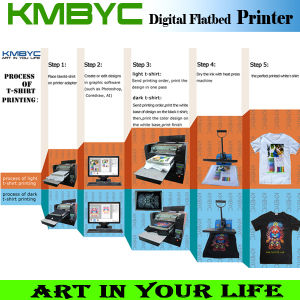 Hot Sale Digital Flatbed Customized T Shirt Images Printers Design pictures & photos
