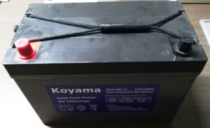 12V100ah Deep Cycle Maintenance Free Battery with Gel or Lead Acid Ce UL Approved pictures & photos