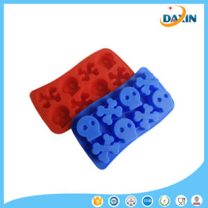 New Design Skull Shape Silicone Ice Cube Tray Ice Mold for Drinks pictures & photos