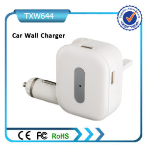 2in1 USB Car Charger with Wall USB Adapter for Mobile Phone pictures & photos