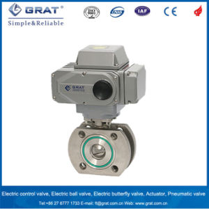 Ss304 Flange Connection Vacuum Ball Valve with Electric Actuator pictures & photos