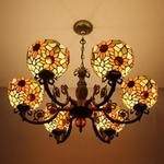 Tiffany Chandelier Lamp (8S2-1P64)