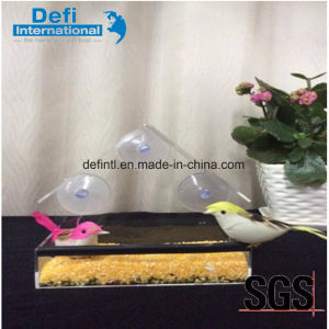 Hot Sell Clear Acrylic Bird Feeder with Strong Suction Cups pictures & photos