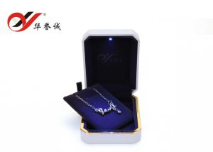 White Color Plastic Jewelry Storage Box with LED Light pictures & photos