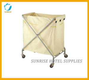 Housekeeping Laundry Linen Canvas Bag Service Trolley pictures & photos