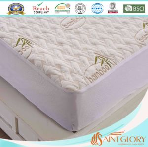 Bamboo Mattress Protector with Fitted Skirt King Size pictures & photos