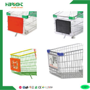 Front Plastic Advertisement Board for Shopping Cart pictures & photos