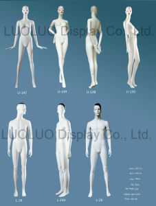 Fashion Female and Male Mannequin with Makeup up pictures & photos