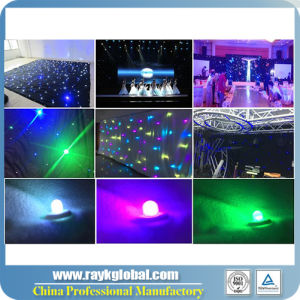 LED Star Curtain, Wedding Decoration, Black Backdrop Light pictures & photos