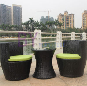Courtyard PE Rattan Chair Sets pictures & photos