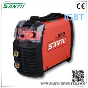 Shanghai Sanyu 2016 New MMA Small Welding Machine MMA-200s IGBT pictures & photos