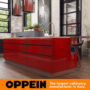 Modern Industrial Style Red High Glossy Lacquer Kitchen Cupboard (OP16-L25) pictures & photos