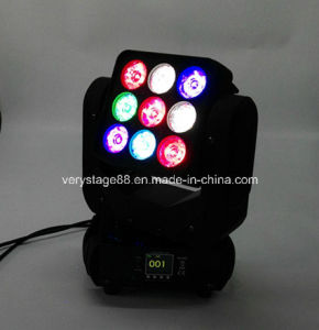 9X10W RGBW 4 in 1 LED Matrix Moving Head Lighting Effect Light for Stage Disco DJ Equipment pictures & photos