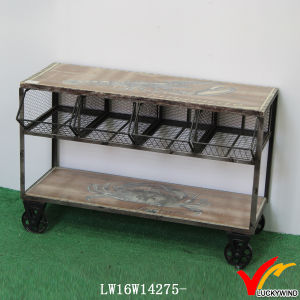 Mesh Kitchen Storage Vintage Industrial Trolly pictures & photos