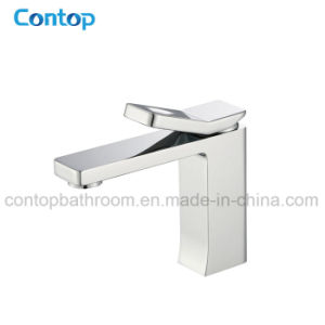 New Shape Bathroom Products Brass Square Washing Basin Mixer pictures & photos
