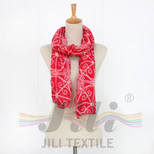 Latest Unusual Geometric Spatial Pattern Print Long Winter Women Scarf