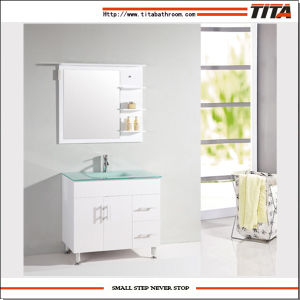 Floor Standing Vanity White MDF Bathroom Furniture Cabinet pictures & photos