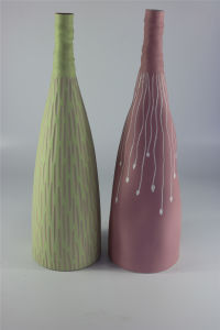New Arrival Fashion Color Glazed Pattern Ceramic Vase