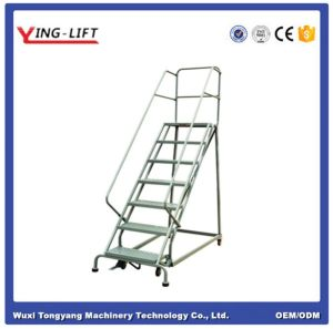 2016 Hot Sale Industrial Steel Rolling Ladders with Ce Certificate pictures & photos