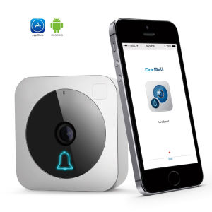 WiFi Doorcam HD 720p CMOS Sensor Wireless Doorbell Two Way Audio Video Mobile View IP Indoor Camera