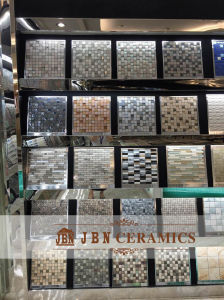 Black Color Plating Stone and Glass Mosaic for Interior and Outdoor (M855005) pictures & photos