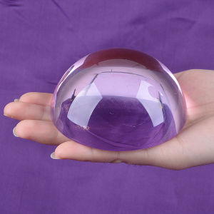 80mm Clear Half Ball Crystal Dome Glass Paperweight pictures & photos