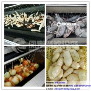 Mstp-1000 Brush Type Potato Washing Peeling Machine Carrot Washer Cassava Peeler pictures & photos
