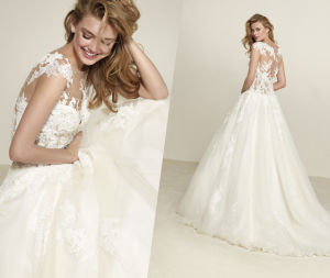 Trendy Soft and Flowing Wedding Dress pictures & photos