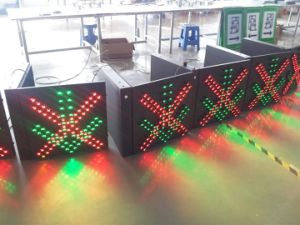 Electronic Lane Control Signal Light / LED Traffic Light with Red Cross & Green Arrow pictures & photos