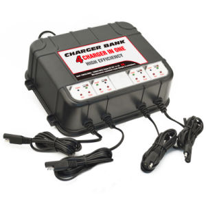 4 Bank Battery Chargers with 2 USB Charger pictures & photos
