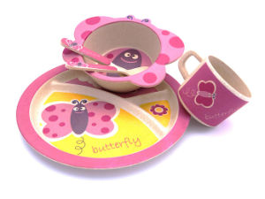 Hot-Sell Bamboo Fiber Tableware Dinnerware Set for Kids (BC-BB-SU2002) pictures & photos