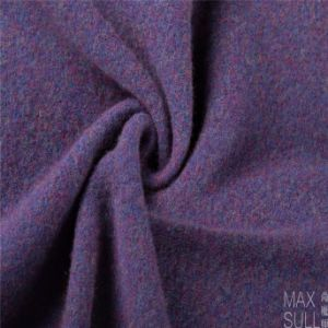 Yark Hair and Wool Fabric with Knitted in Purple pictures & photos