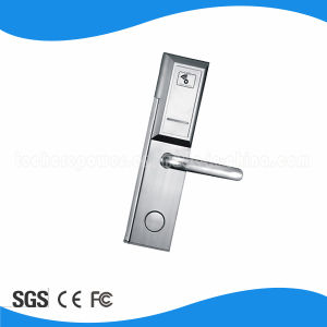 Stainless Steel Wireless Zigbee Online Hotel Door Lock Remote Control Electronic Handle Lock pictures & photos