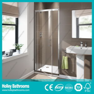 Aluminium Shower Hinged Screen with Tempered Laminated Glass (SE917C) pictures & photos