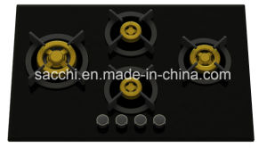 Supreme 4 Brass Burner Gas Hob (8mm Glass) pictures & photos