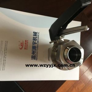 Rjt Union Sanitary Butterfly Valve pictures & photos