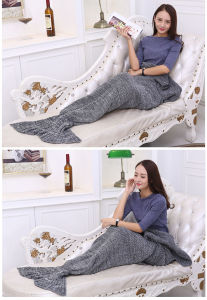 Knitted Sea-Maid Sea-Maiden Mermaid Tail Blanket for Kids and Adults pictures & photos