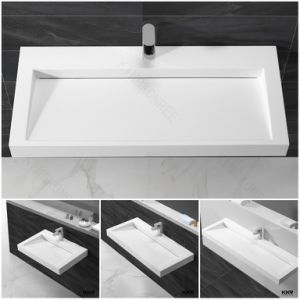 Sanitary Ware Solid Surface Bathroom Hand Wash Basin (B170830) pictures & photos