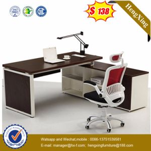 High Quality Wooden Melamine L-Shaped Office Desk (HX-5N310) pictures & photos