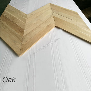 Flooring for Unfinished Oak Fishbone Parquet Wooden Flooring