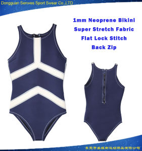 Women Neoprene Sexy Beach Wear Diving Surfing Bikini pictures & photos