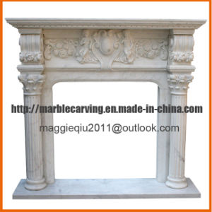 Columns Marble Fireplace Surround Mf1718 pictures & photos