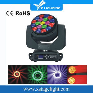 DJ Disco RGBW 19*15W 4in1 Zoom Bee Eye LED Moving Head Stage Light pictures & photos