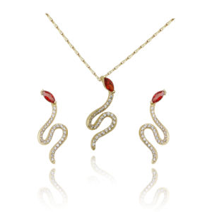 2016 Fashion Jewelry Micro Pave Snake Necklace Earring Sets for Women pictures & photos