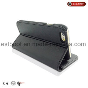 iPhone Leather Mirco Fiber Mobile Phone Case with Card Slot pictures & photos