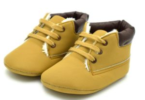 Children Indoor Booties with Shoeslaces